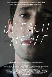 Detachment comes from Tony Kaye who directed American History X. A grim & hard hitting story about the US education system. The writer wants to make a point & does succeeds but it's dark & one sided. Adrian Brody plays a complex character, a teacher troubled by his childhood, compassionate but with difficulties to open up. This is a strong story with great dialogues & performances. This is a heavy film that addresses questions around education, mental health & the responsibility of parents.