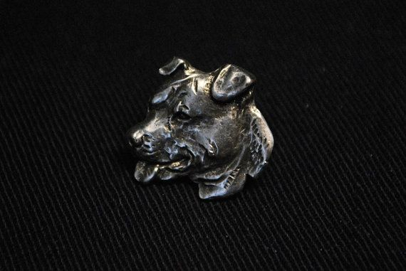 American Staffordshire Terrier dog pin limited by ArtDogshopcenter
