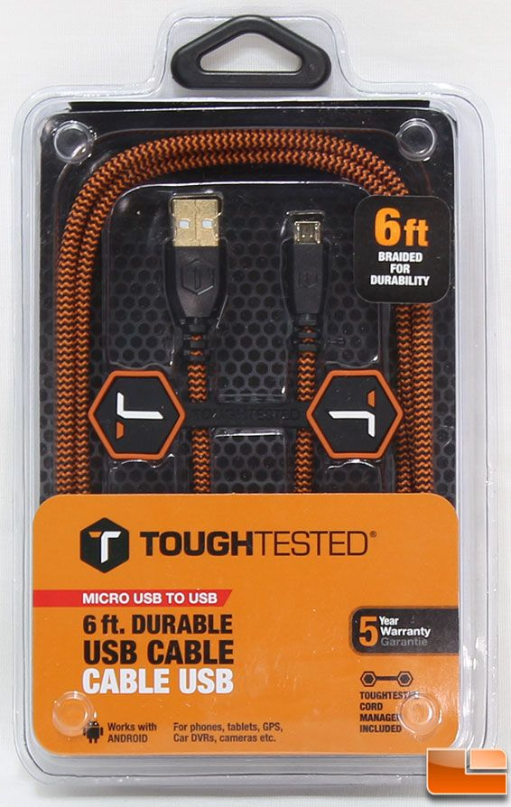 ToughTested Durable USB Cable Packaging Front