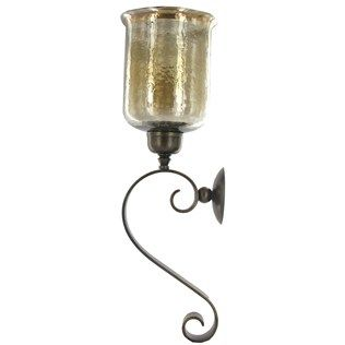 Large Iron Scroll Sconce with Glass Hurricane Shop Hobby Lobby Hobby Lobby Pinterest ...