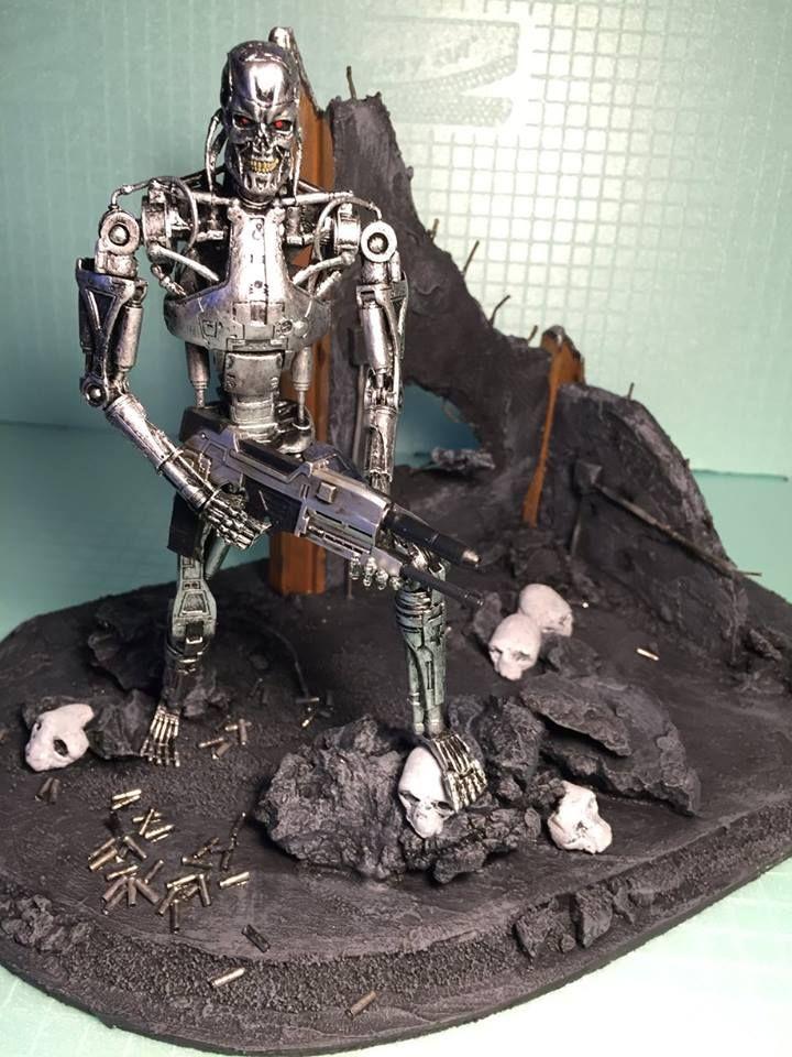 link zum making of besuchen button dr cken diy terminator t 800 endoskeleton diorama. Black Bedroom Furniture Sets. Home Design Ideas
