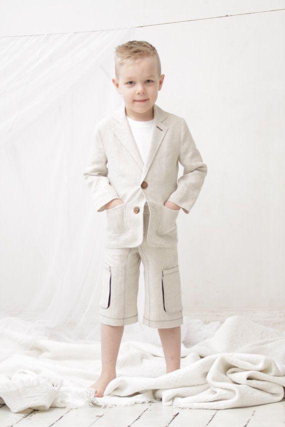 Boys natural linen shorts Boys Cargo shorts Toddler boy linen pants Boys trousers Boys summer clothes Boys clothing on Etsy, $36.00