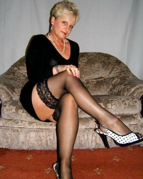 Mature In Black Stockings 70