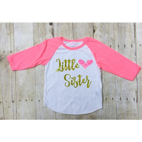 Big Sister Announcement Shirt ($20) ❤ liked on Polyvore featuring tops, going out tops, glitter top, party tops, raglan sleeve shirts and night out tops