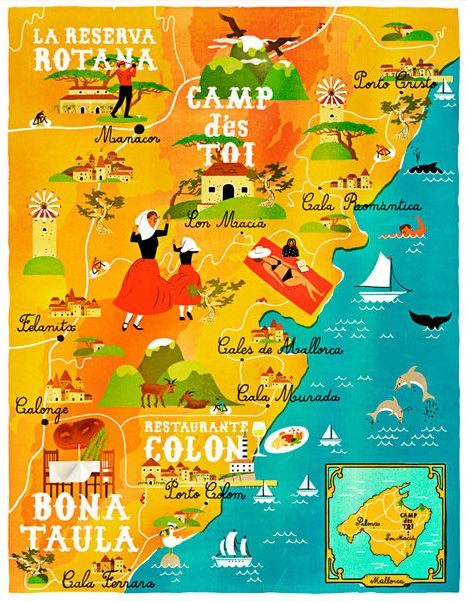 """A Map of the World According to Illustrators and Storytellers 