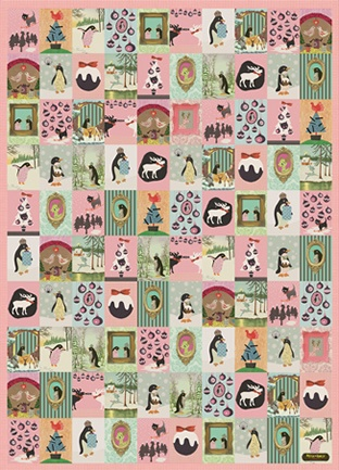Petra Boase Christmas wrapping paper for a vintage playful holiday