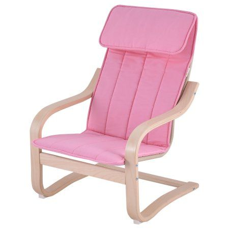 Goplus Kids Armchair Children Leisure Lounge Wood Home Furniture Kiddie Pink New