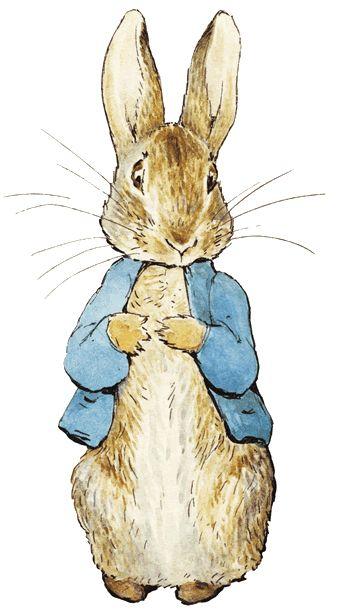 Peter Rabbit - a criação mais popular de Beatrix Potter, introduzido em 'The Tale of Peter Rabbit', de 1902.