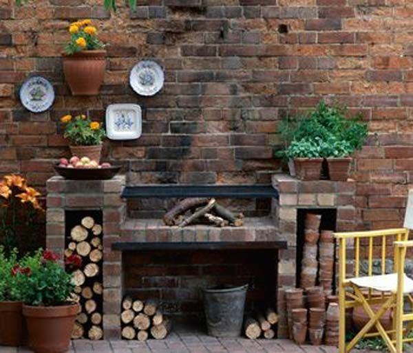 brick barbecue in backyard building your own barbecue grill has