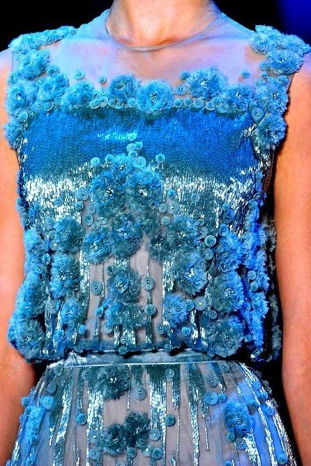Embellishment in blue. Reminds me of the ocean