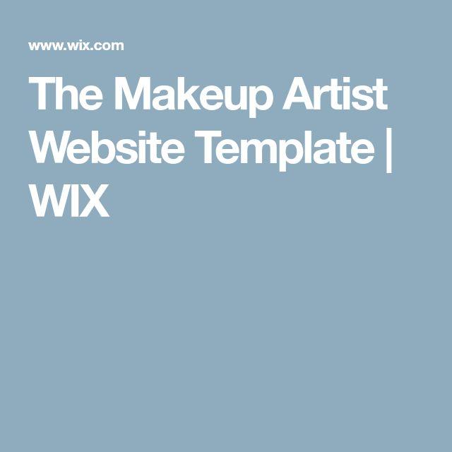 The Makeup Artist Website Template | WIX