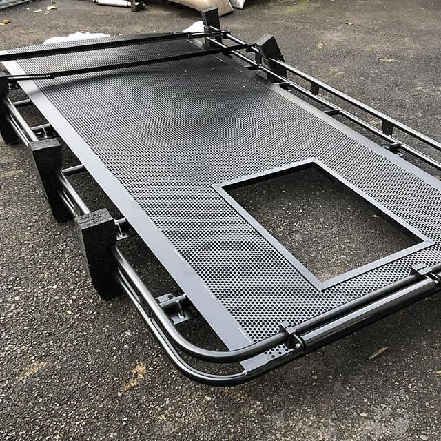 Aluminess Roof Rack Delivered And Ready For An Install On A Ford Transit Got Vents Or An A C Unit No Proble Ford Transit Camper Ford Transit Transit Camper