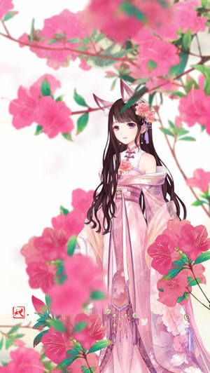 Miracle Nikki ... Prinzessin hinter Kirschblütenstrauß