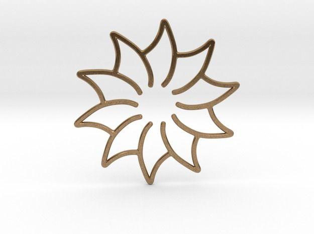 Beautiful flower will be a great gift for her. http://shpws.me/wJ1D #flower #kwiat #zawieszka #pendant #gift #xmas #shapeways