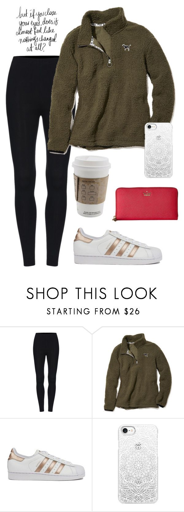 """Untitled #177"" by dianaheart on Polyvore featuring Victoria's Secret, adidas, Casetify and Kate Spade"