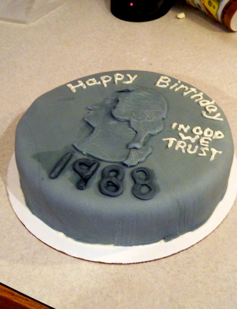 25th Birthday Quarter Cake Pegect For My Brothers Birthday Thats