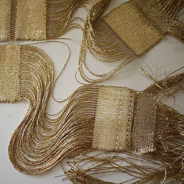 """Dream Weavers: Native Line """"It is believed that ancient Egyptians created gold wire by pulling soft ore into long, tiny threads, then they weaved these tiny gold threads into garments, wall ornamentations, and adornments,"""" says Ashbee."""