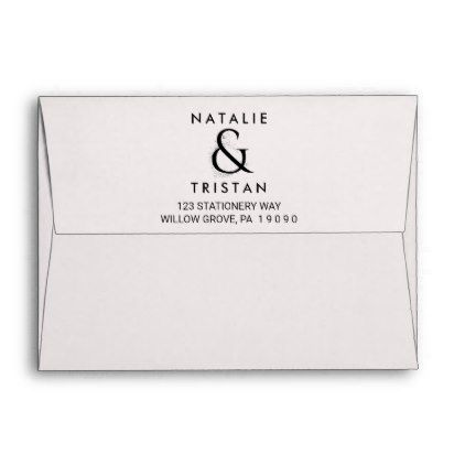 Floral Ampersand Wedding Invitation Envelope - engagement gifts ideas diy special unique personalize