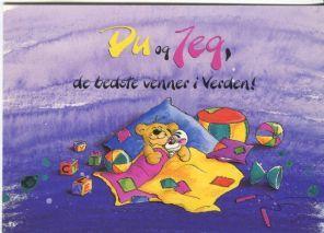 Springmusen Diddl Postcard, Du og Jeg, de bedste venner i Verden, 1105-346