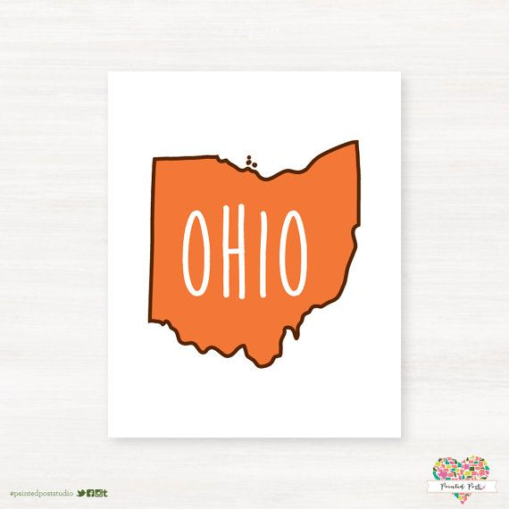 Bowling Green State University Falcons Bowling Green Ohio Typography State Giclee Print By Paintedpost