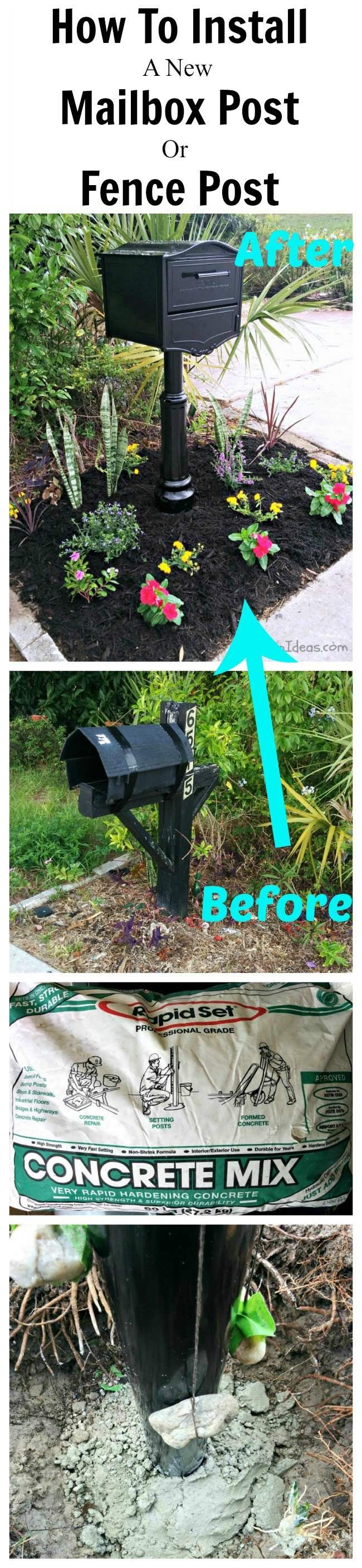 HOW TO INSTALL A MAILBOX POST OR FENCE POST