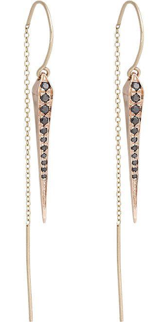 Tilda Biehn Rose Gold Comet Drop Earrings -  - Barneys.com