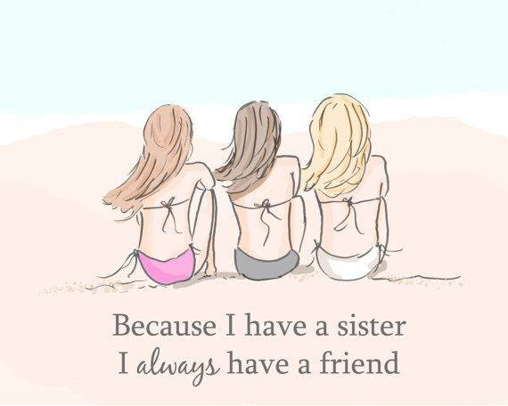 Art for Sisters Sister Wall Art Digital by RoseHillDesignStudio, $20.00