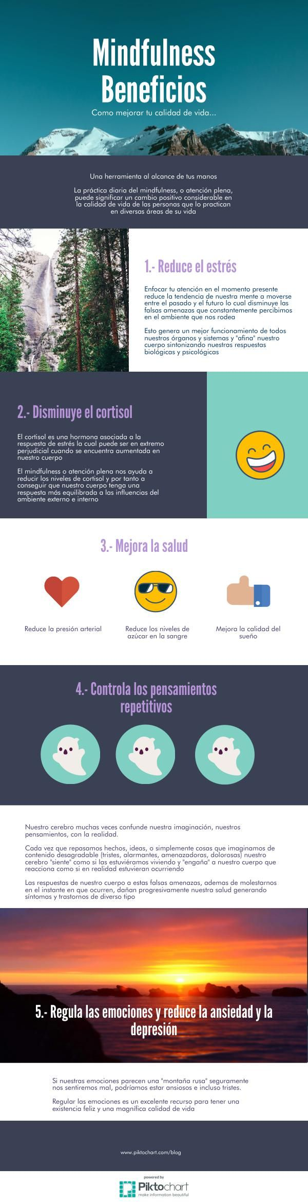 SERBAL Beneficios del mindfulness | @Piktochart Infographic