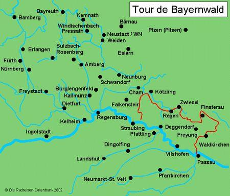 Karte von Tour de Bayerwald