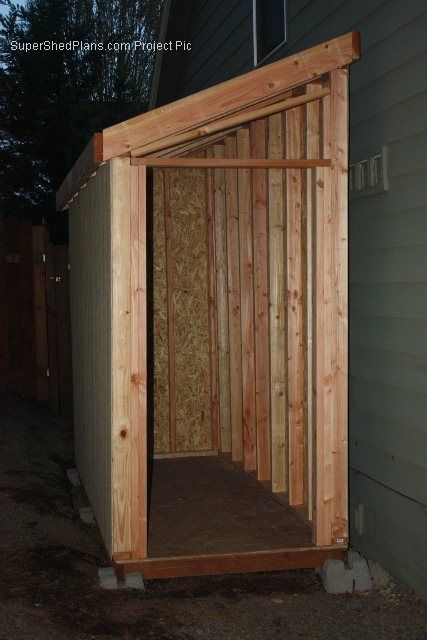 slant roof shed plans download