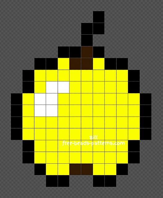 Minecraft Golden Apple Hama Beads Perler Beads tutorial