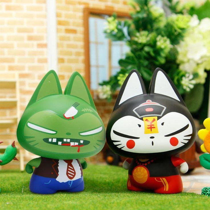 Zhuaimao пвх фигурки подарок pop винил minifigures приборной панели автомобиля украшения зомби коллекционирование игрушка фигуркикупить в магазине ZhuaimaoнаAliExpress
