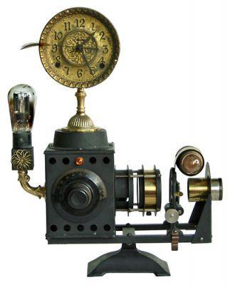 #3352 Projector - Klockwerks by Roger Wood3352 Projectors, Projectors Klockwerk, Clocks Mak Extraordinaire, Wood Clocks Mak, Clocks Assemblage, Wooden Clocks, Rogers Wood, Clocks Watches, Projectors Clocks