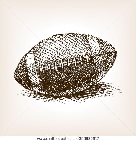 vintage football hand drawn vector - Google Search