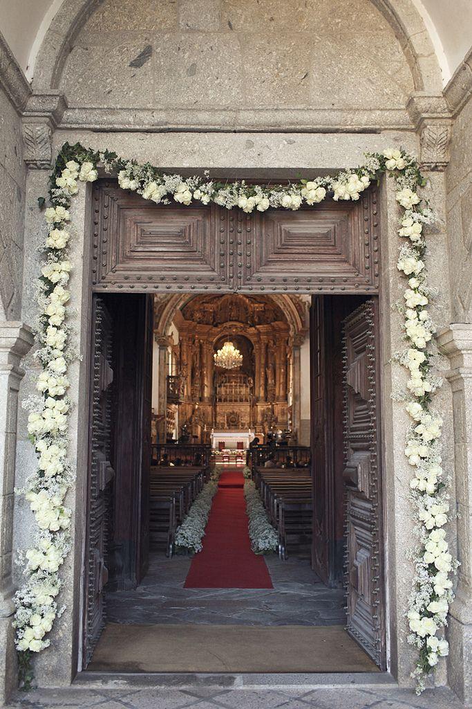 church ceremony decor- love the entry way door
