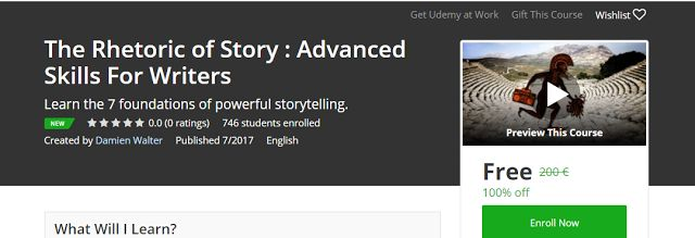 The Rhetoric of Story : Advanced Skills For Writers Free        Requirements        Students will gain the most value if they have a love...