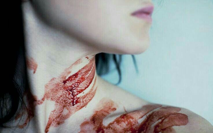 """""""The smell of blood is stronger than the burned smell now, too strong for even the night wind to blow away. Her hands are slimy with it, and it smears on her neck as she pulls out the vial, pours the prayer into her palm."""" The Price of Falling. Rast."""