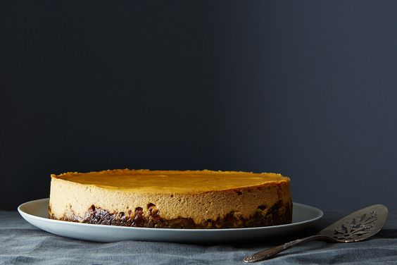 Pumpkin Cheesecake with Gingersnap Crust , a recipe on Food52