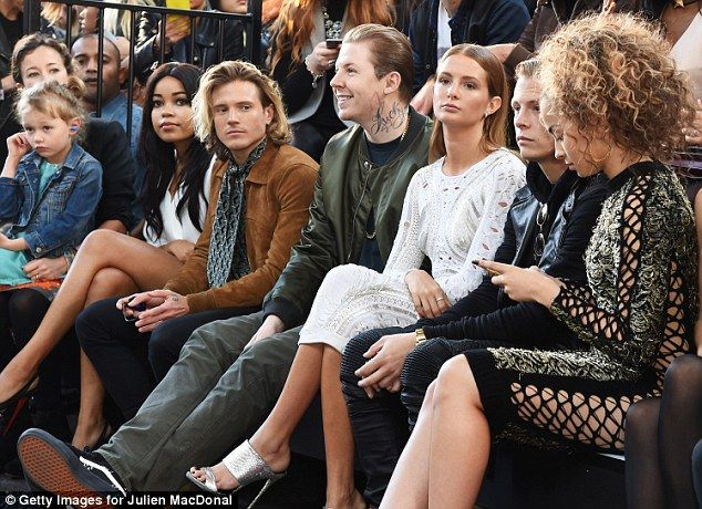 Close: Professor Green appeared very high-spirited as his wife remained deep in thought...