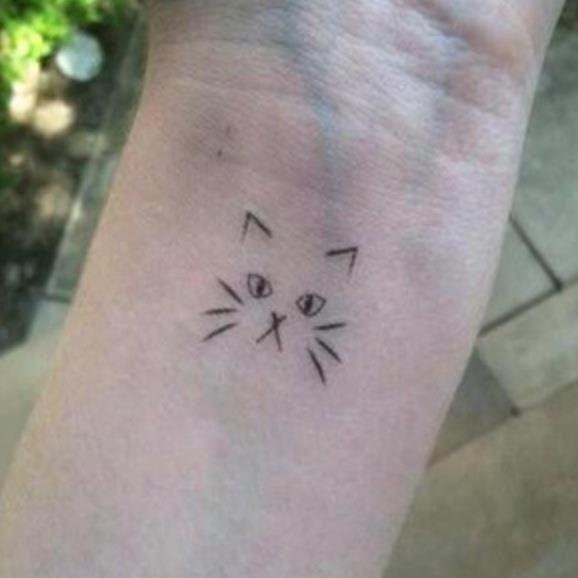 cat outline tattoo Car Tuning | Fun stuff | Cat outline ...