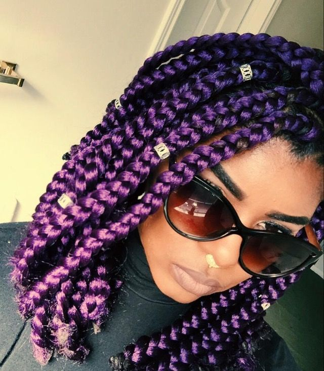 Awesome 1000 Ideas About Colored Box Braids On Pinterest Box Braids 4C Short Hairstyles For Black Women Fulllsitofus