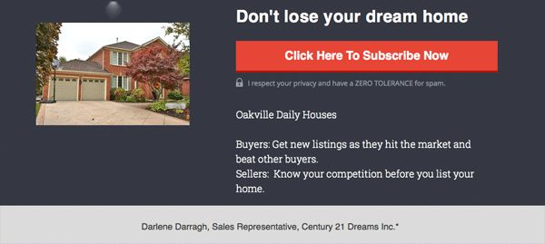 Don't lose your dream house to another buyer. Get this FREE service daily to see homes as soon as they hit the market. Hear on video about house, pricing, neighbourhood.
