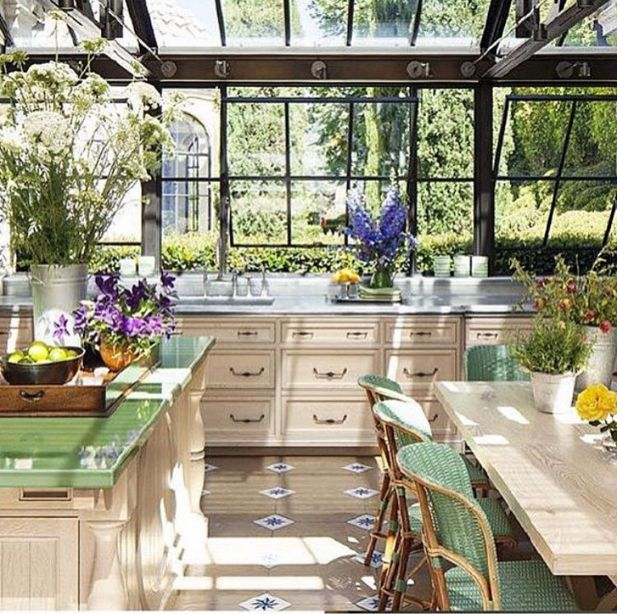 Conservatory Kitchen, Rustic Kitchen