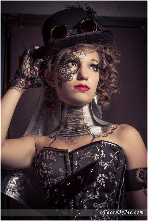 Steam Punk - Photo Shoot - Faces by Me! - Face Painting Dallas Plano Tx - Gallery