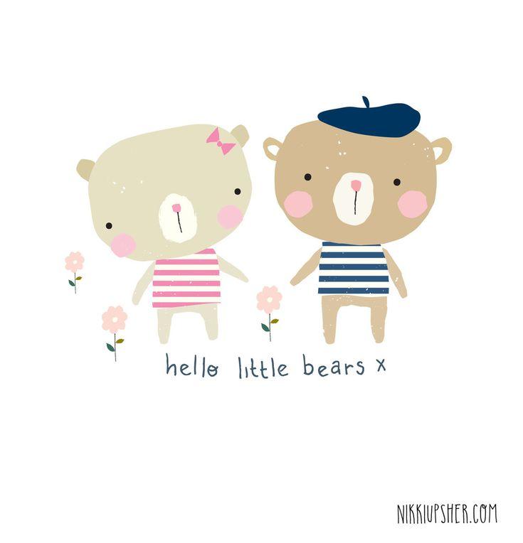 Nikki Upsher design - cute little bears