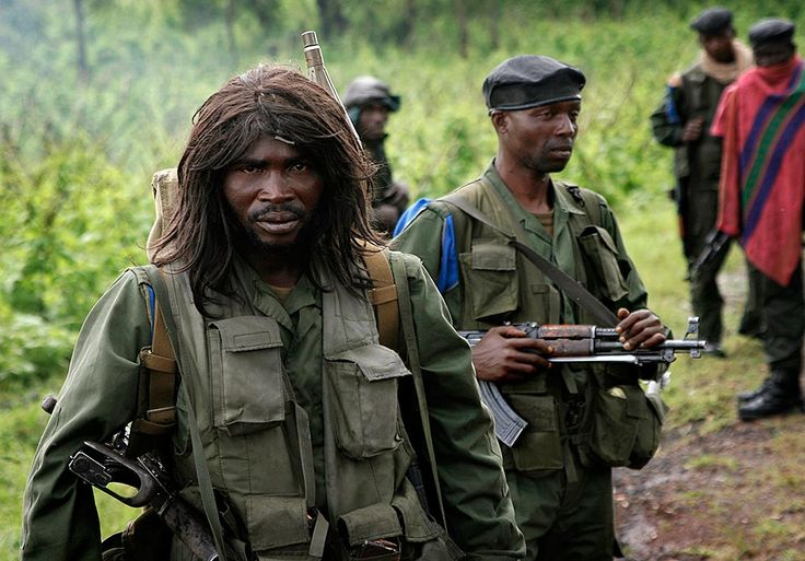 Revolutionary United Front fighters in Sierra Leone.