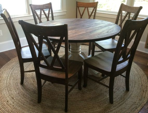 Best 25+ Round Farmhouse Table Ideas On Pinterest