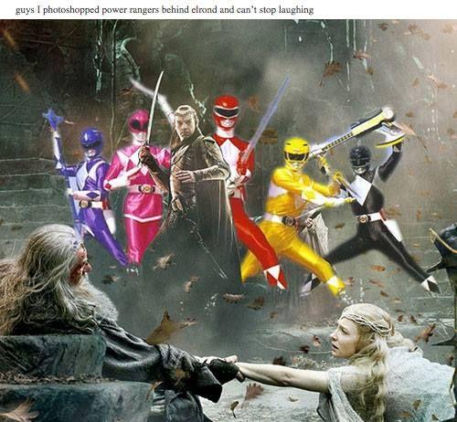 Go Go Elrond Rangers! #LOTR #powerrangers / http://saltlakecomiccon.com/slcc-2015-tickets/?cc=Pinterest