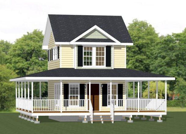 16x20 tiny house 16x20h11a 579 sq ft excellent for 16x20 house plans