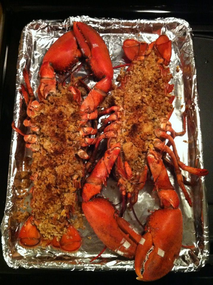 My secret weapon. My grandfather's baked stuffed lobster recipe.